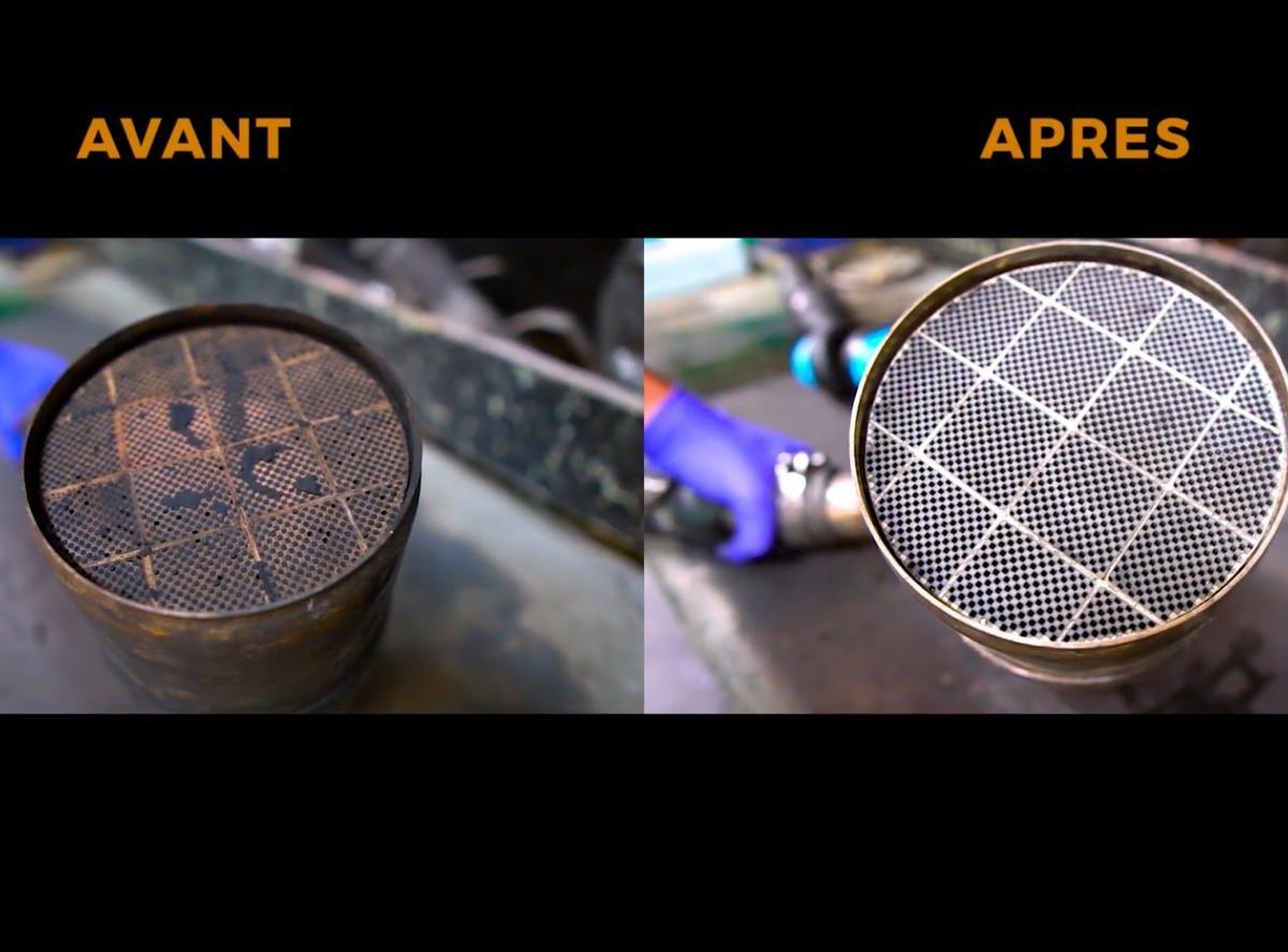 filtre à particule avant après